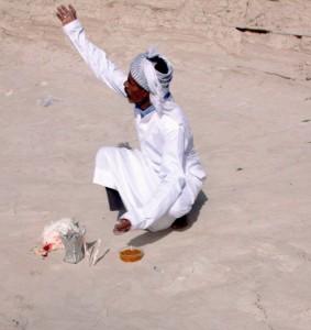 مراسم احتال در بیابانهای اطراف بندر عباس