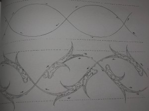 تصویر سه: نمونه ای از طراحی حرکت در اسلیمی