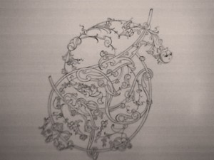 تصویر1: نمونهای از طرح یک اسلیمی